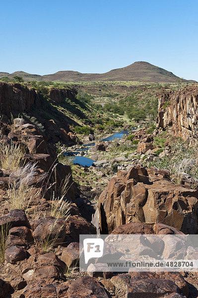 Schlucht in der Palmwag Concession  Namibia  Afrika