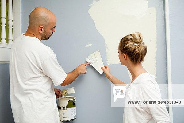 Paar Malerei Mauer