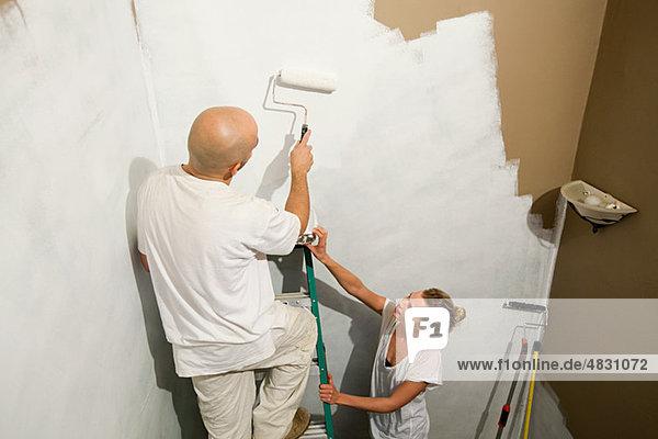 Wand streichen streicht streichend anstreichen anstreichend