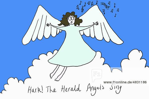 Engel singen hören die Engel singen  Illustration