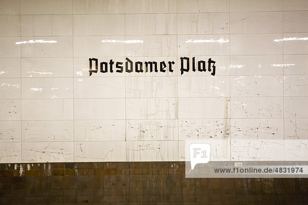 Germany  Berlin  Potsdamer Platz subway station