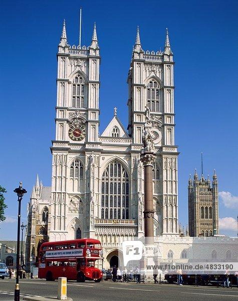 Abtei Architektur  Bus  Kathedrale  Kirche  Decker  Double  Doubledecker  England  Deutschland  Großbritannien  Europa  Ferie