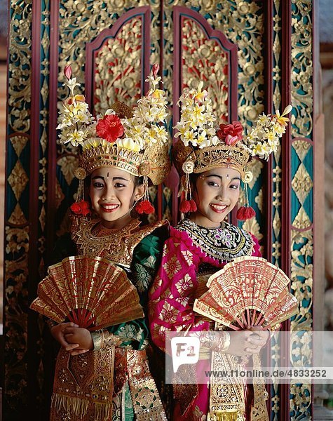 Asia  Asian  Bali  Asia  Balinese  Costumes  Cultural  Dancers  Elaborate  Entertainment  Fans  Girls  Headdresses  Holiday  Ind