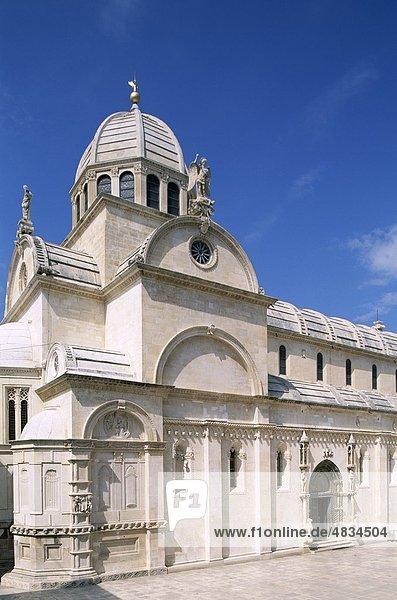 Kathedrale  dalmatinischen Küste  Kroatien  Europa  Erbe  Urlaub  Jacob  Landmark  Sibenik  Tourismus  Reisen  Unesco  Urlaub  Wo