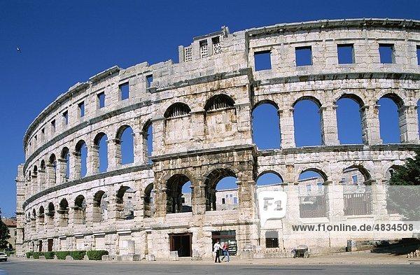 Amphitheater  Kroatien  Europa  Erbe  Urlaub  Istrien  Landmark  Pula  Region  Roman  Tourismus  Reisen  Unesco  Urlaub  Worl