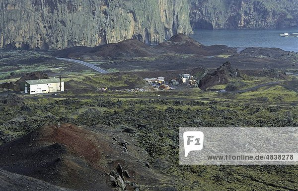 Hafen Vulkan Insel Ansicht