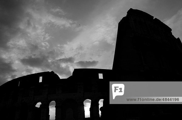 Silhouette of the Colosseum in Rome