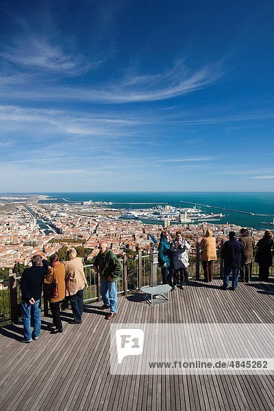 France  Languedoc-Roussillon  Herault Department  Sete  elevated city view from Mont St-Clair