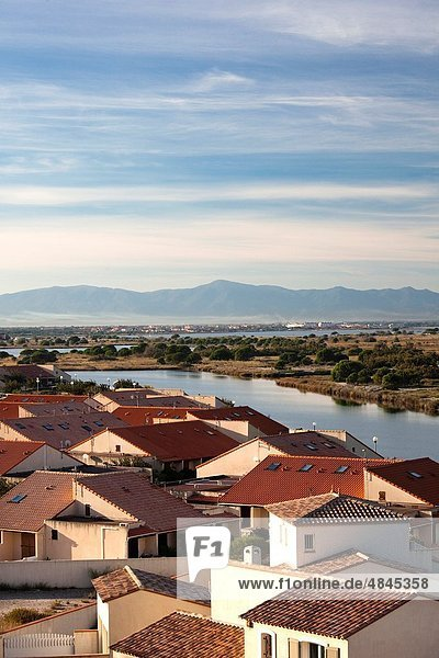 France  Languedoc-Roussillon  Aude Department  Port-Leucate  town overview