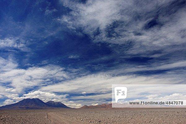 Landschaft  trocken  Anden  Chile