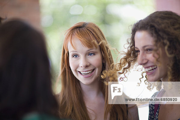 Girl friend having great fun