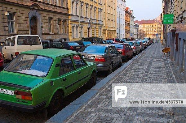 Prag Hauptstadt Europa Straße Tschechische Republik Tschechien Ortsteil