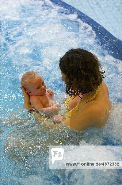 schwimmen , Mutter - Mensch , Baby