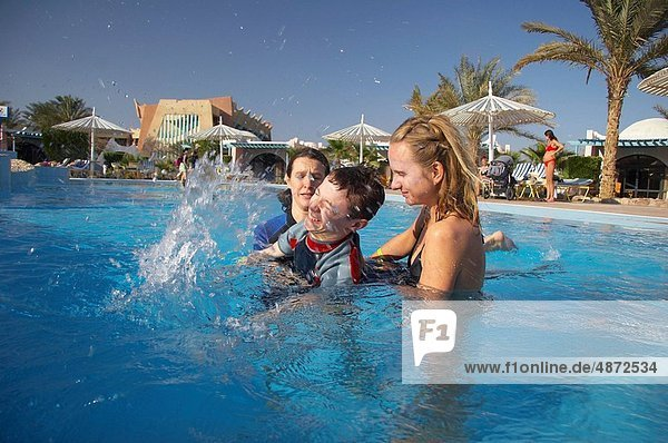 water therapy with handicapped child