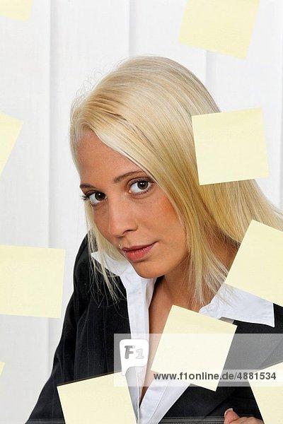 Frau  jung  Aufgabe  Vielfalt  Business