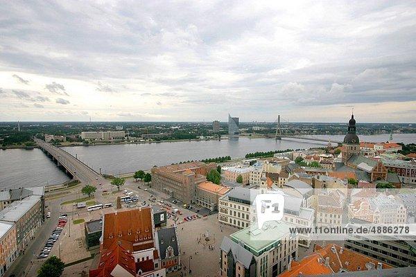 Großstadt  Ansicht  Riga  Hauptstadt