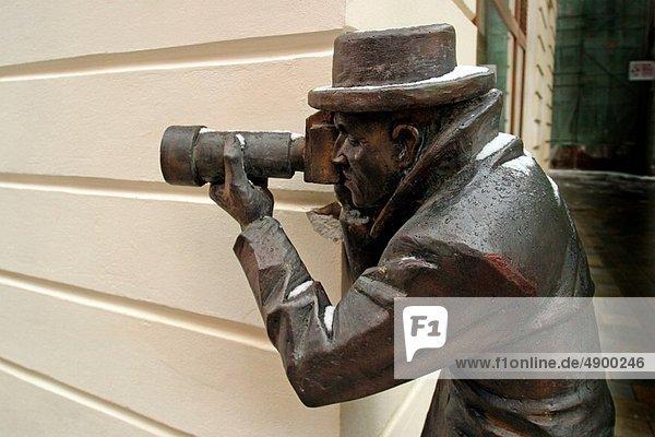 Photographer statue  Bratislava  Slovakia
