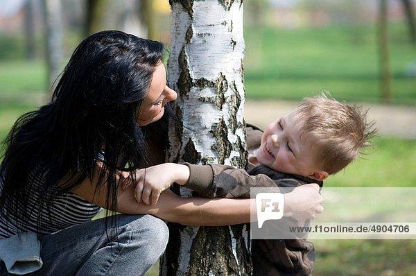 sehen  Sohn  Mutter - Mensch