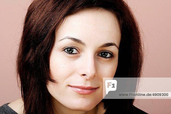 Portrait  Frau  Fröhlichkeit  Schönheit  grün