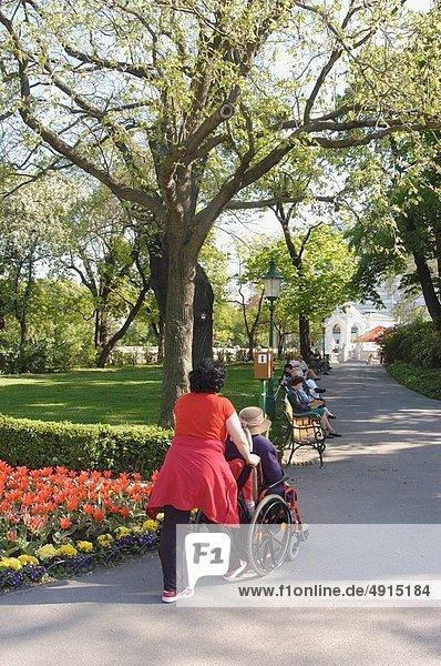 Frau  alt  Rollstuhl