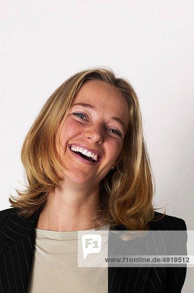 blond  Geschäftsfrau  Freundschaft  lachen