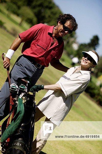 stehend  Tasche  Golfsport  Golf