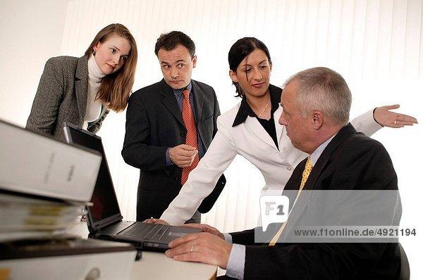 Mensch  Manager  Menschen  verhandeln  Business