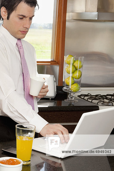 Interior  zu Hause  Notebook  Geschäftsmann  arbeiten