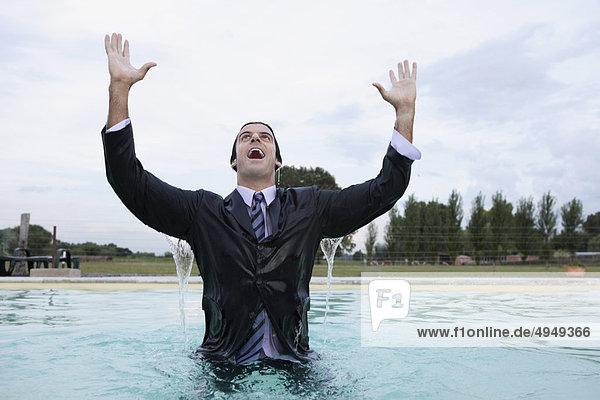 Geschäftsmann Schwimmbad Geschäftsmann,Schwimmbad