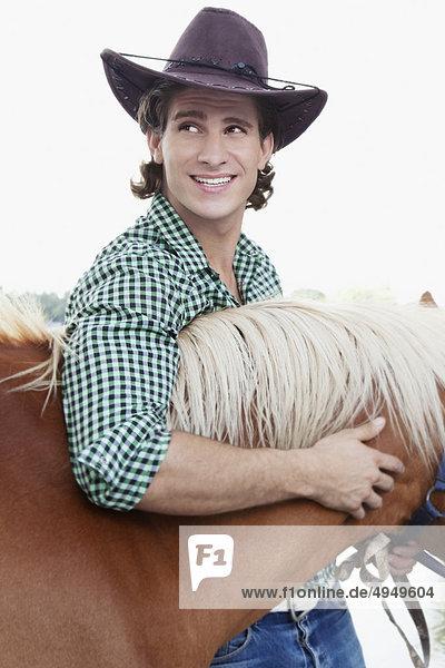 Mann mit einem Pferd Mann mit einem Pferd