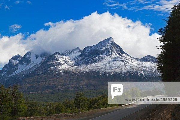 Südamerika  Argentinien  Feuerland  Ushuaia  Blick auf die Berge