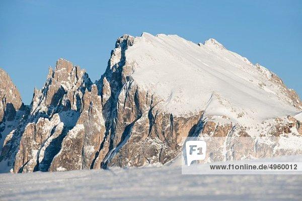 Österreich  Südtirol  Blick auf Schnee auf Felsen