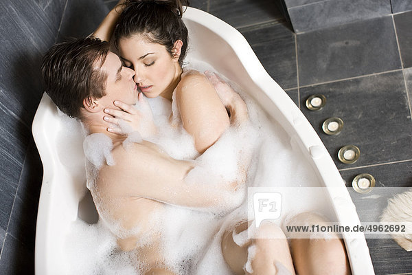 A young couple having fun in the shower 3