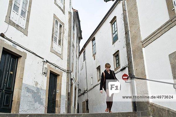 Frau  Großstadt  Galicien  alt  Spanien