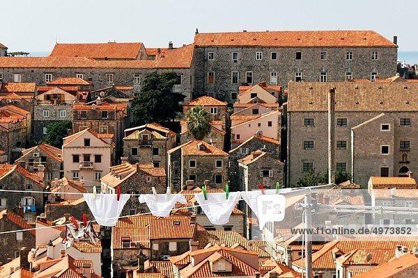 Dach  trocknen  hängen  Wäsche  Kroatien  Dubrovnik