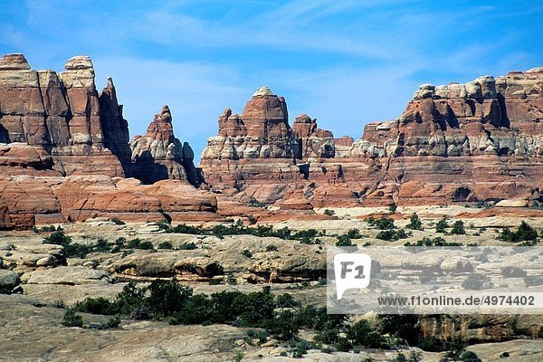 Vereinigte Staaten von Amerika  USA  Felsbrocken  Anordnung  Nähnadel  Nadel  Ortsteil  Utah