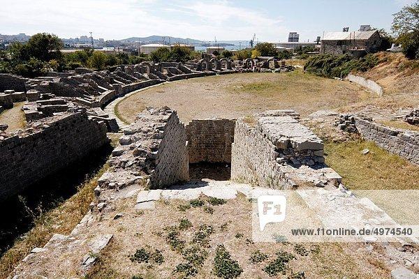 Ruins of ancient Amphitheater  Salona  Croatia  Europe