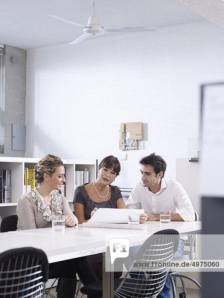 Architekt  Büro  Besuch  Treffen  trifft