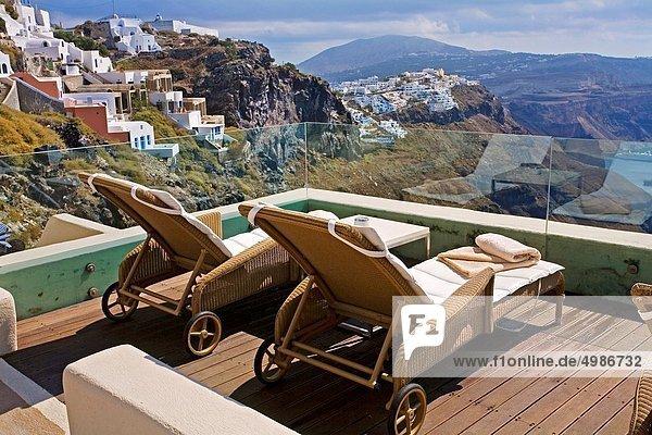 Village of Firostefani Santorini  Cyclades Islads  Greece