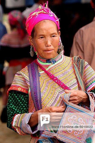 People Of Vietnam  Hmong market. Bac Ha. Sapa region. North Vietnam