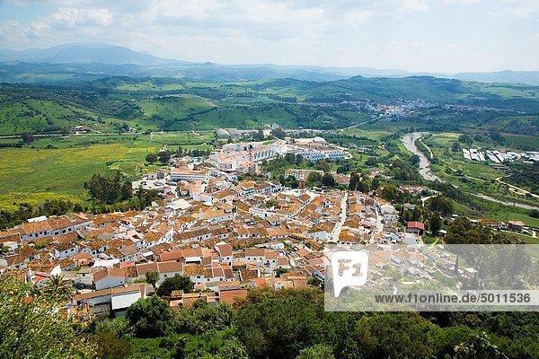 Panorama Europa Tal Ansicht Andalusien Cadiz Spanien