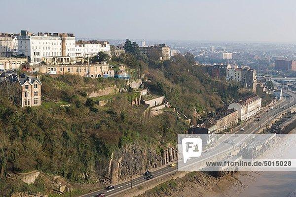 Großbritannien  über  Ansicht  Schlucht  Bristol  England  Gloucestershire