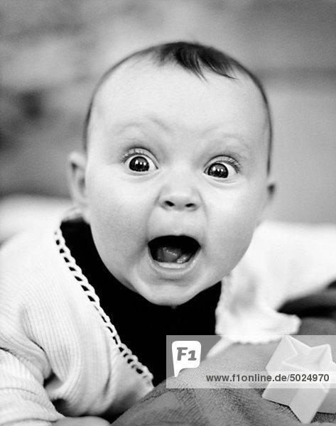 Close up of lachend baby Close up of lachend baby