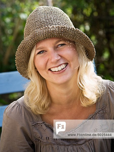 Woman smiling  close-up  portrait
