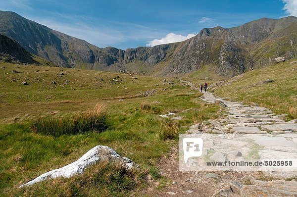 Europa  Snowdonia Nationalpark  Pont Pen-y-Benglog  Wales