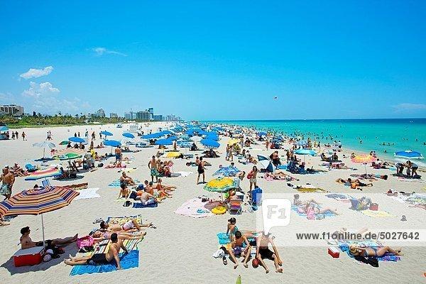 South Beach  Art deco district  Miami beach  Florida  USA