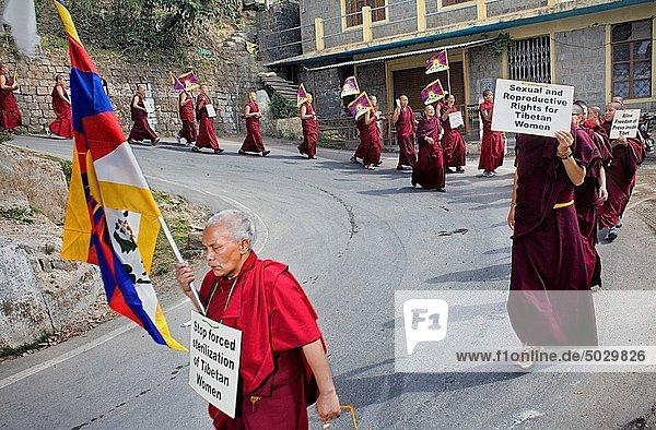 Frau  Tibet  Asien  Dharamsala  Freiheit  Indien