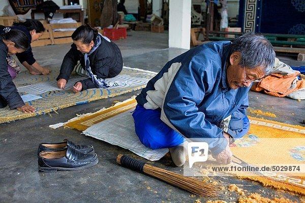 Teppichboden  Teppich  Teppiche  Handarbeit  Tibet  Asien  Dharamsala  Indien