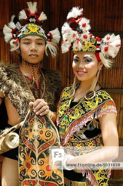 Portrait  Frau  Tradition  Krieger  Borneo  Malaysia  Sarawak