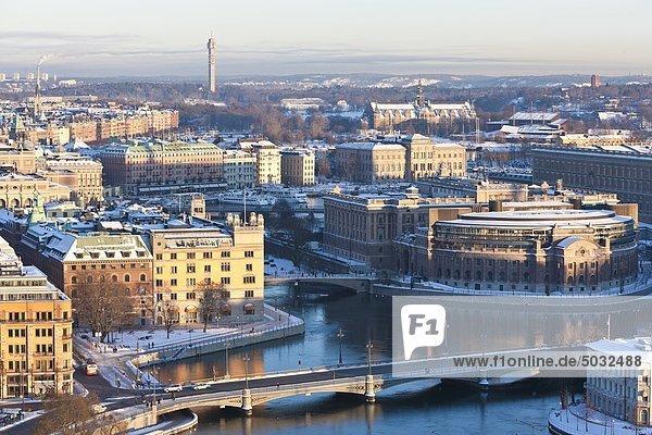Ansicht der Großstadt im winter
